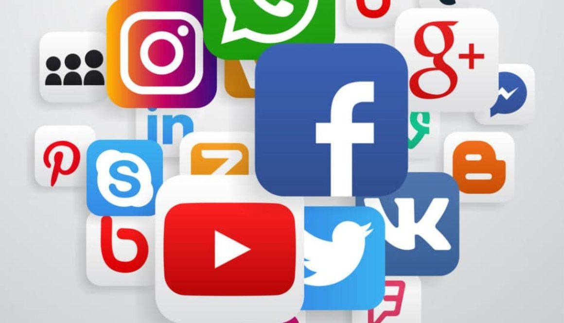 Globe made of social media icons